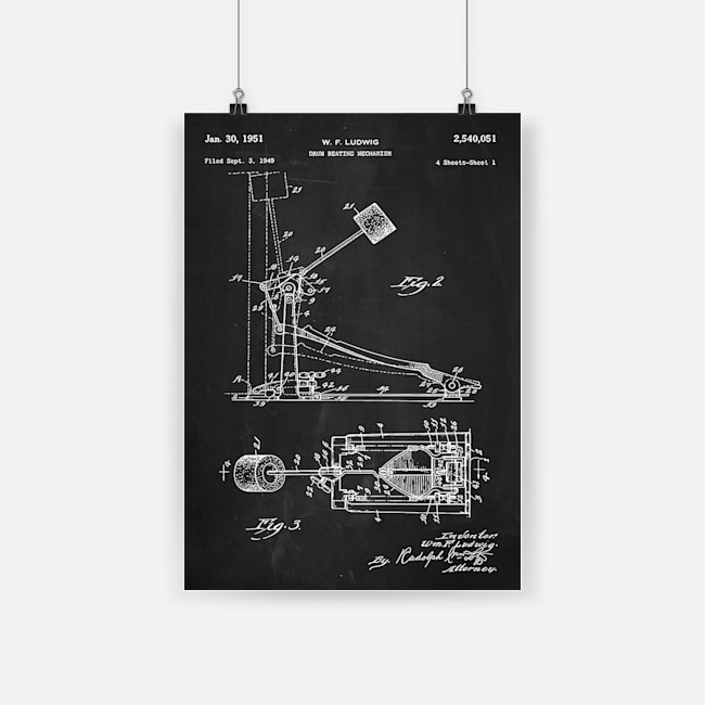 Drum beating mechanism drum musical instrument structure poster 1
