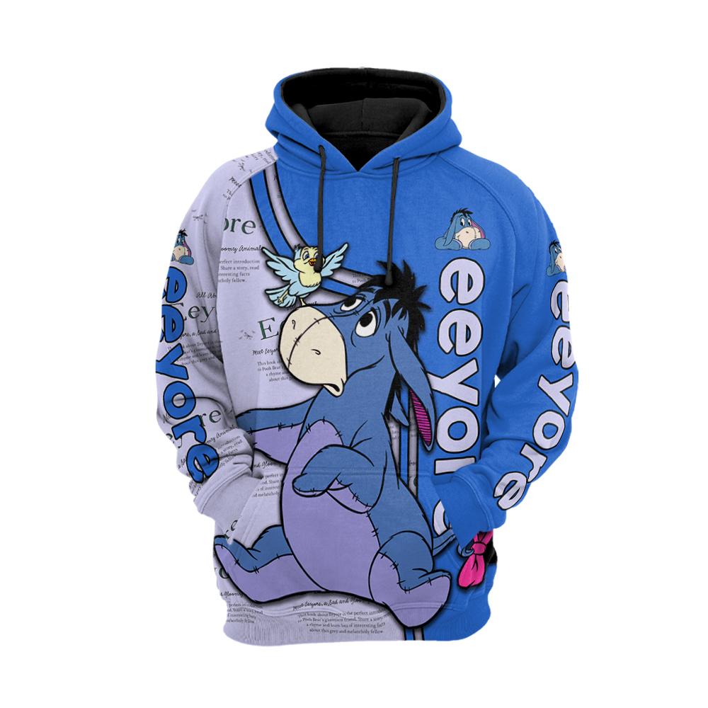 Eeyore all over printed hoodie 1