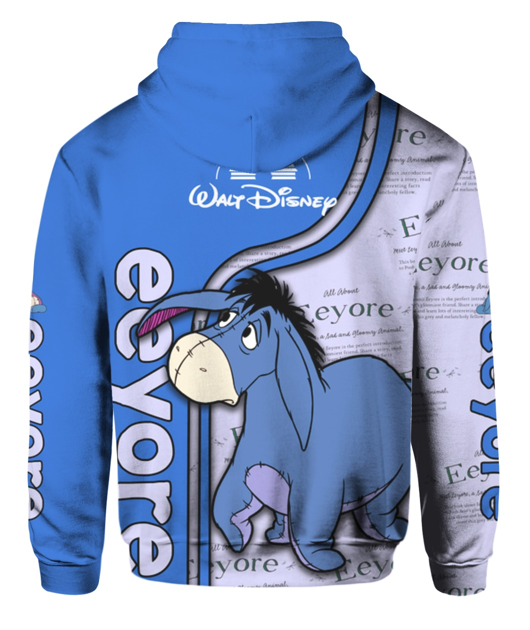 Eeyore all over printed hoodie - back