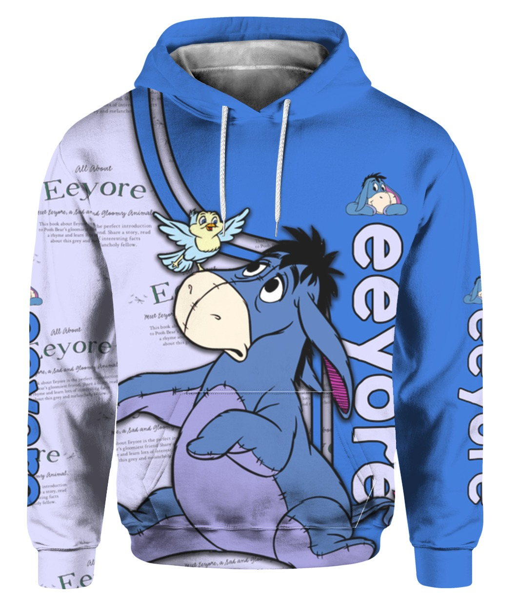 Eeyore all over printed hoodie