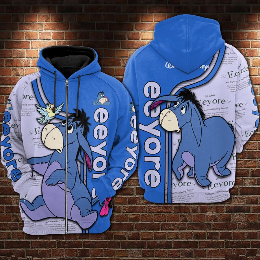 Eeyore all over printed zip hoodie
