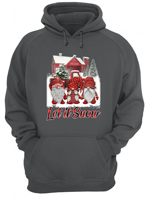 Gnomes let it snow christmas hoodie