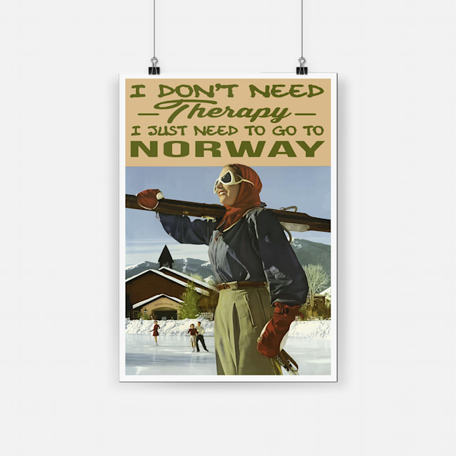 I don't need therapy i just need to go to norway poster 3