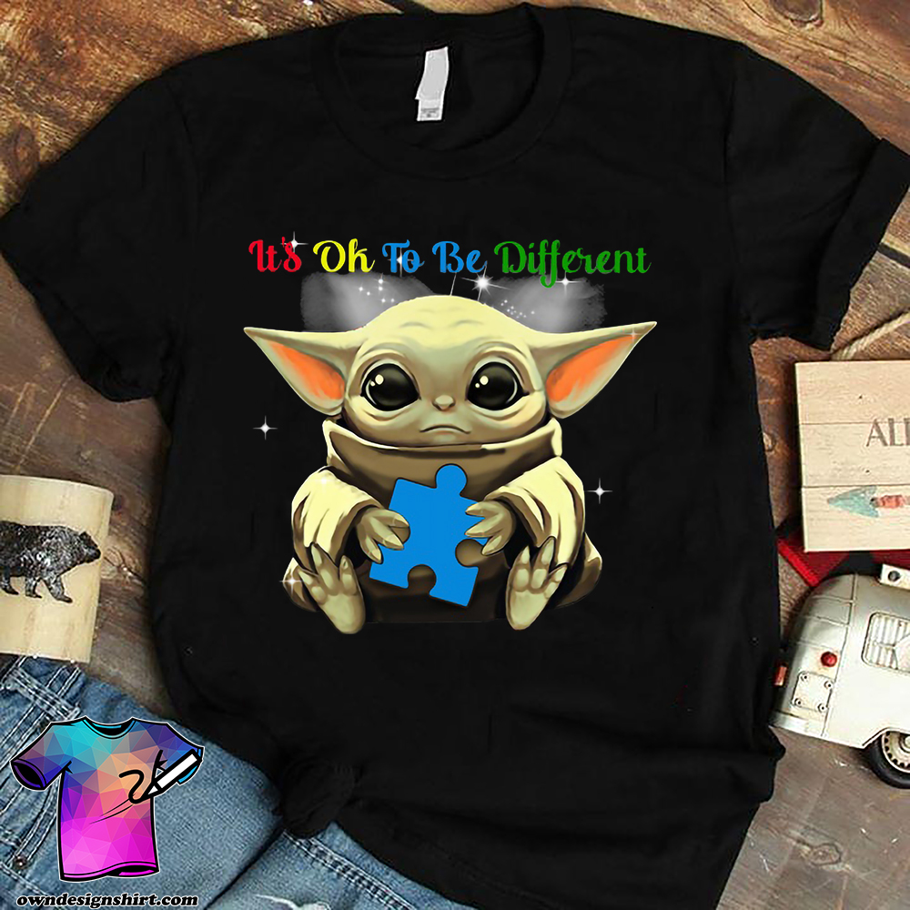 It's ok to be different autism awareness baby yoda shirt
