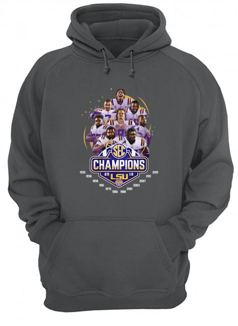 LSU football champions 2019 legends players hoodie