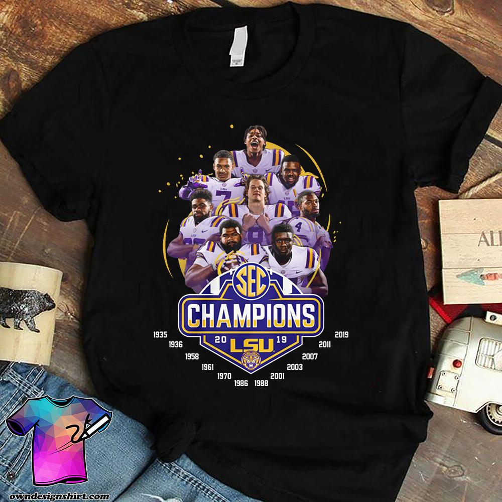 LSU football champions 2019 legends players shirt