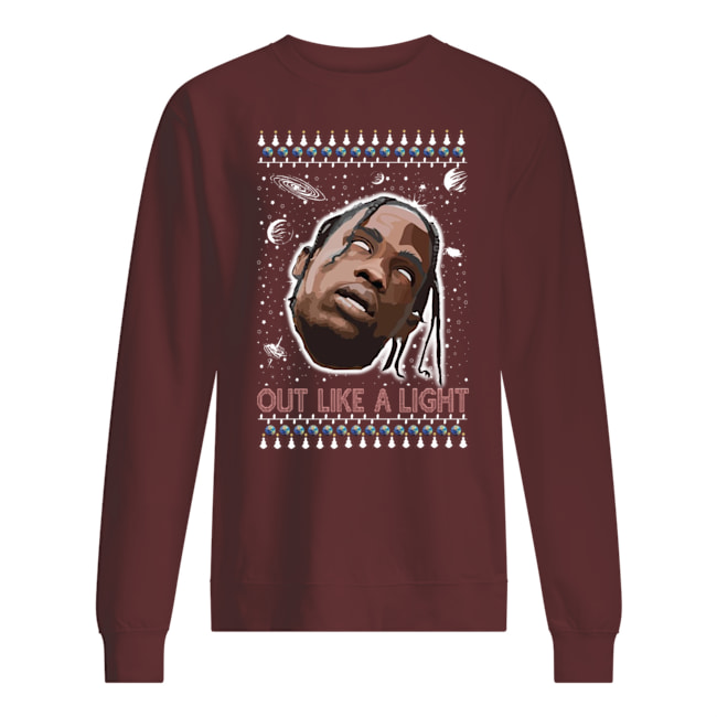 La flame out like a light rapper ugly christmas sweatshirt