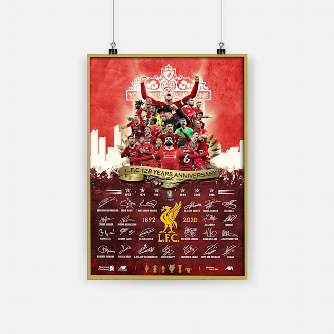 Liverpool fc you'll never walk alone poster 1