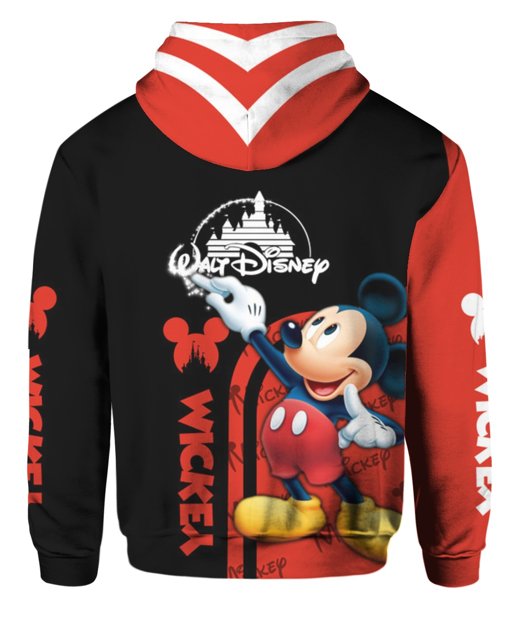 Mickey mouse all over print hoodie - back