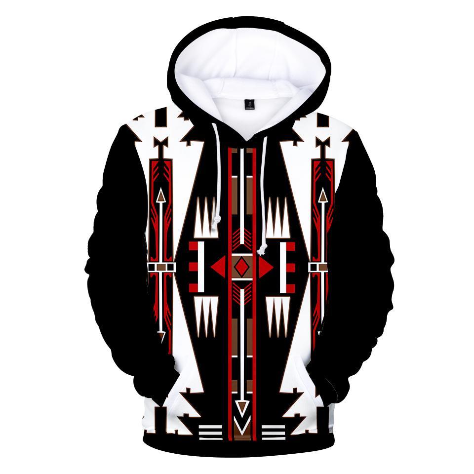 Native american black culture symbol all over printed hoodie 1