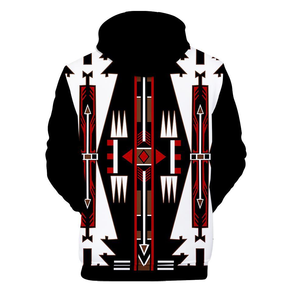 Native american black culture symbol all over printed hoodie - back