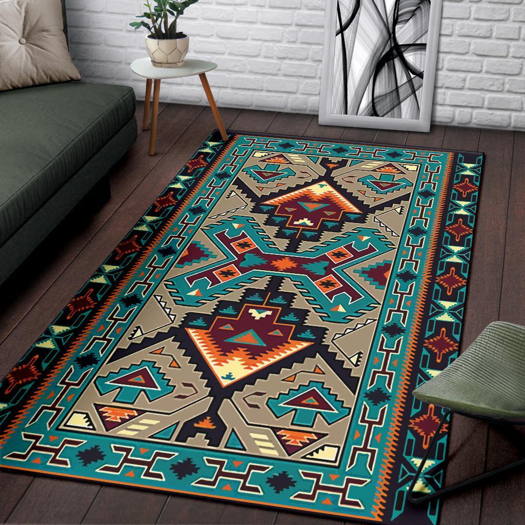 Native american culture design area rug