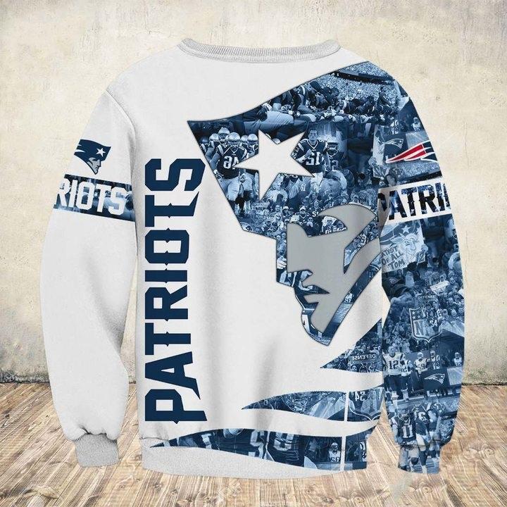 New england patriots all over printed sweatshirt - back