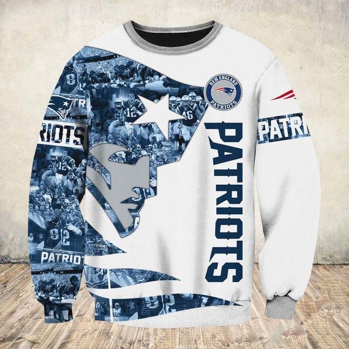 New england patriots all over printed sweatshirt