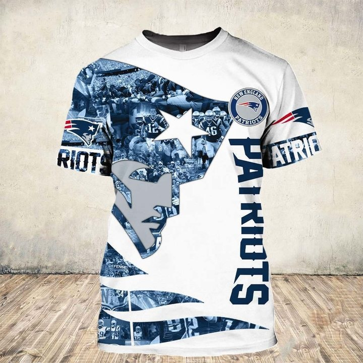 New england patriots all over printed tshirt