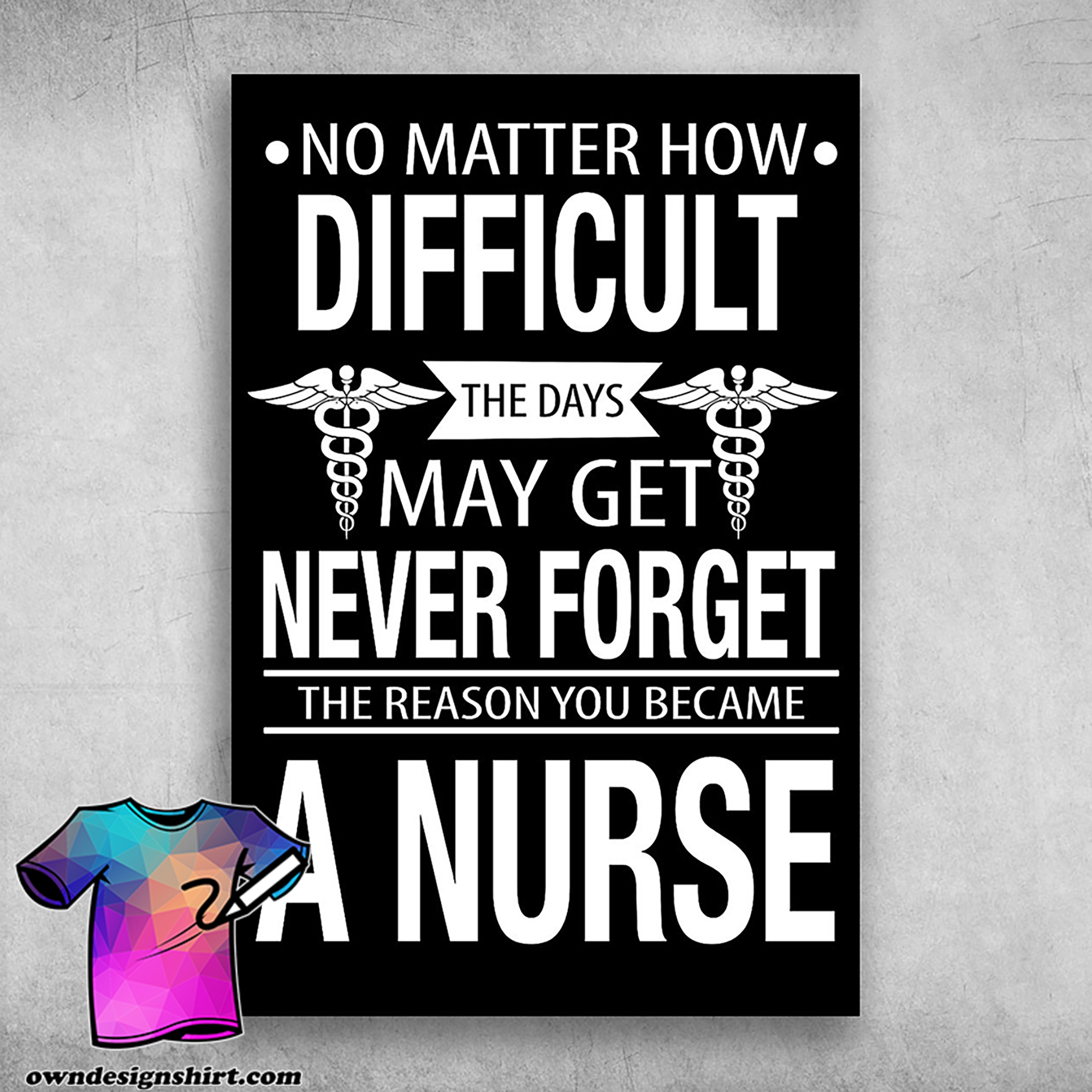 No matter how difficult the days may get never forget the reason you became a nurse poster