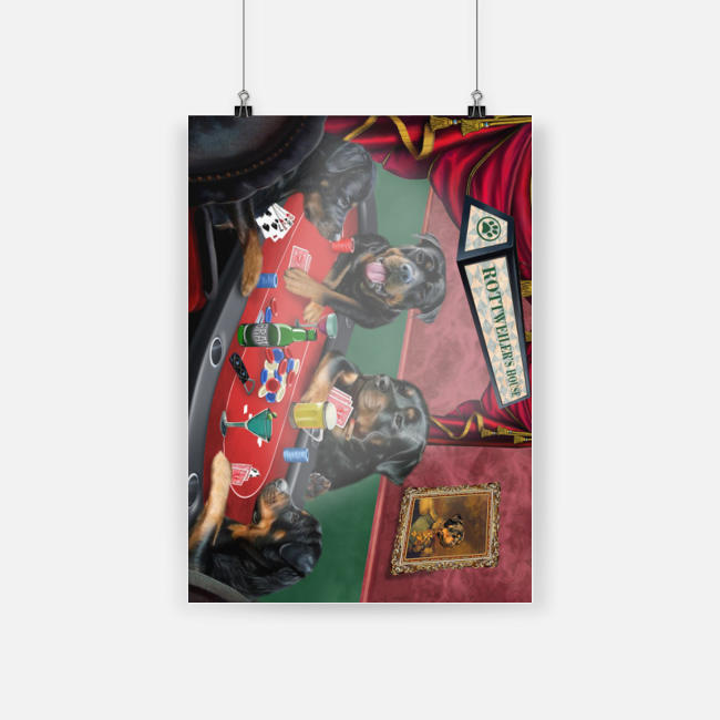 Rottweiler's house rottweiler playing cards poster 1