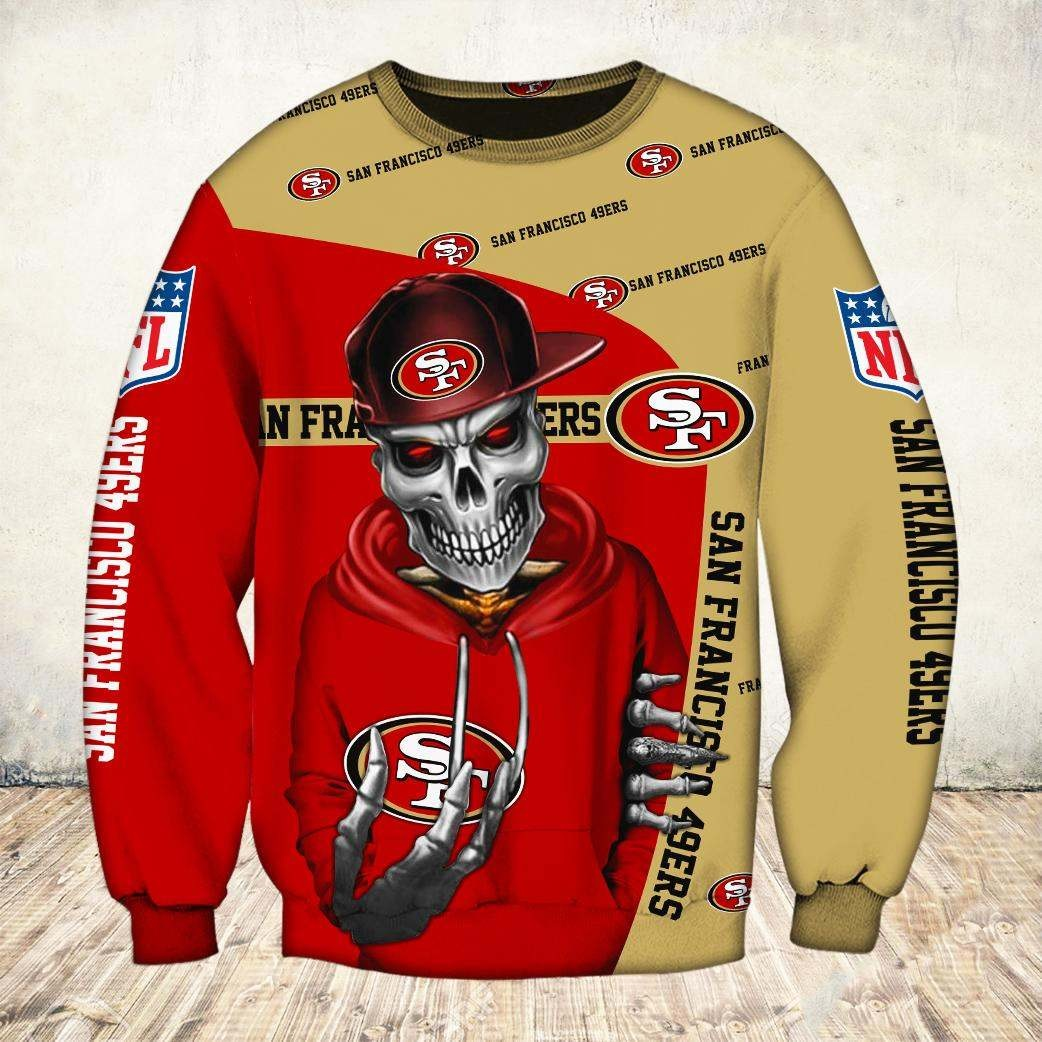 Skul san francisco 49ers all over print sweatshirt
