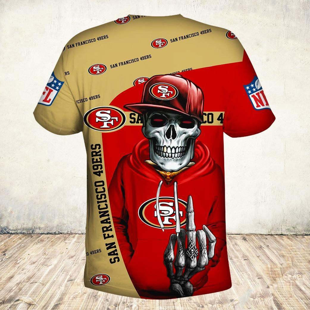 Skul san francisco 49ers all over print tshirt - back