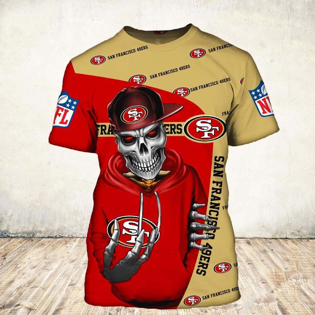 Skul san francisco 49ers all over print tshirt