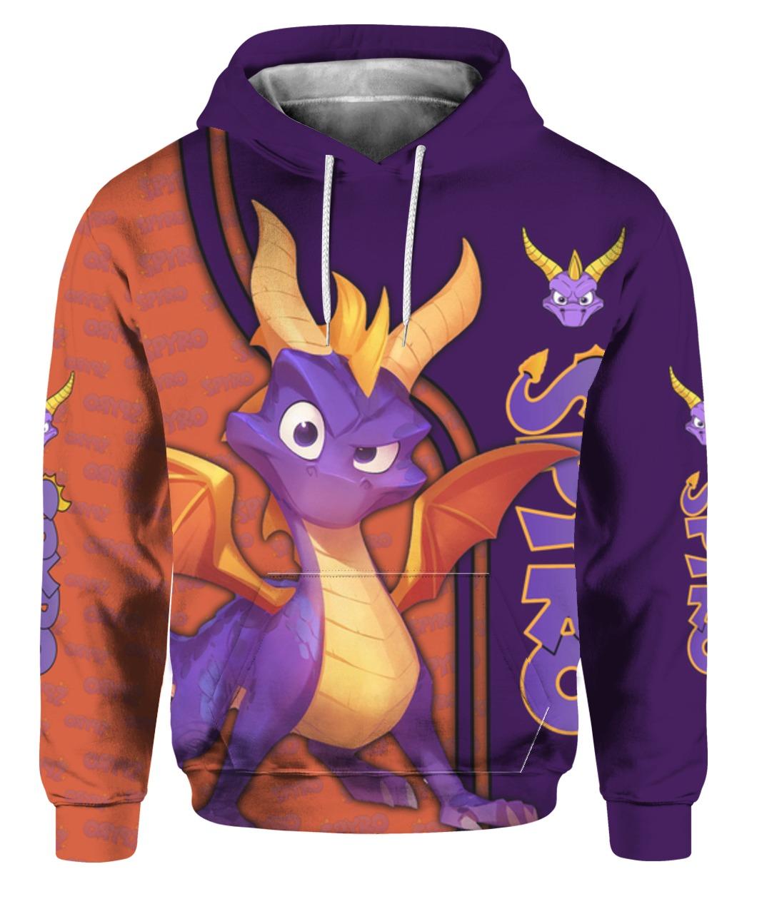 Spyro all over printed hoodie