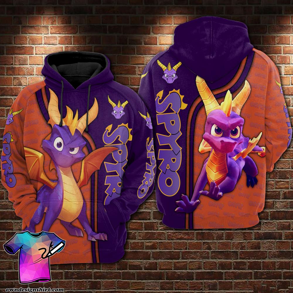 Spyro all over printed shirt