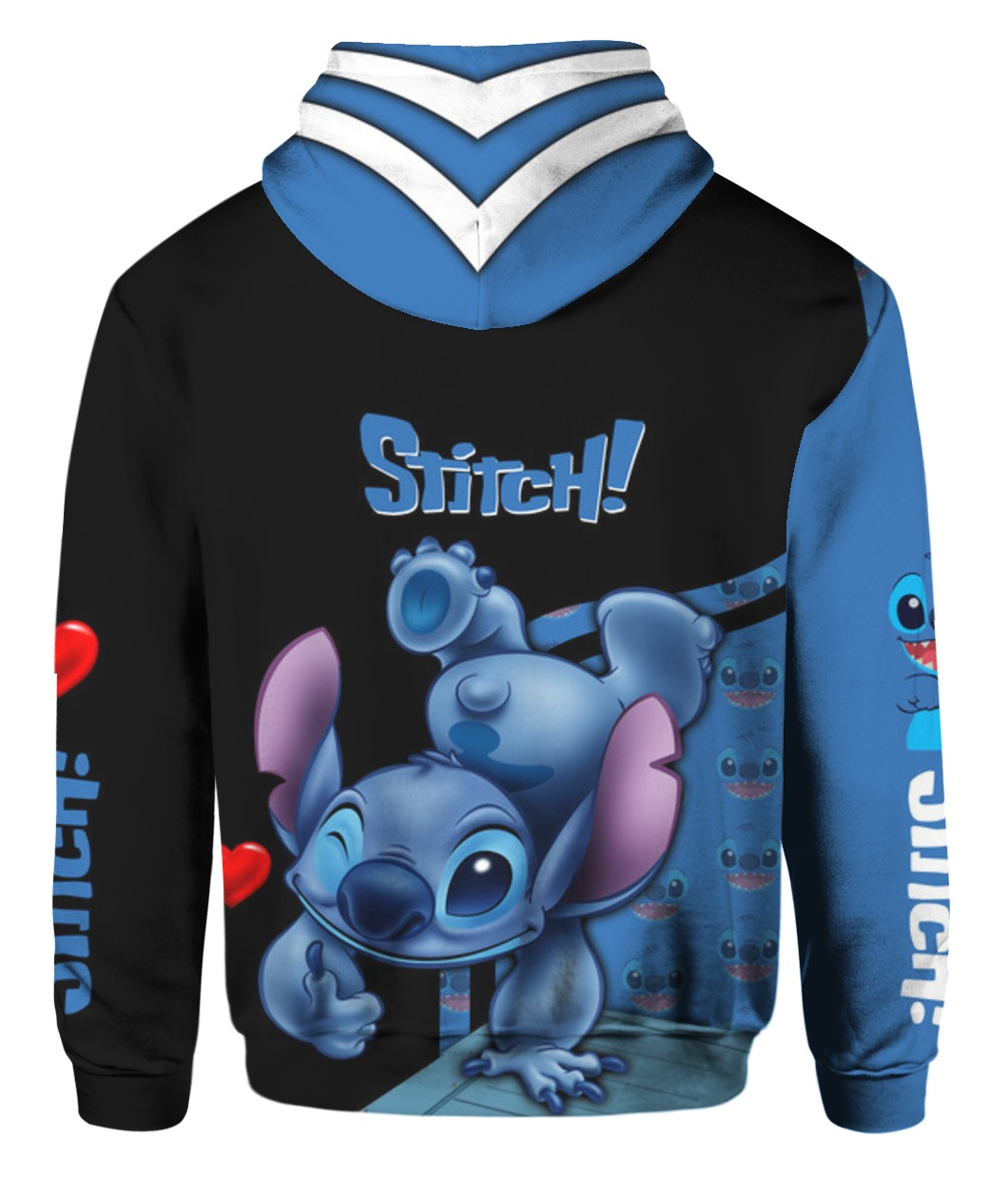 Stitch all over printed hoodie - back