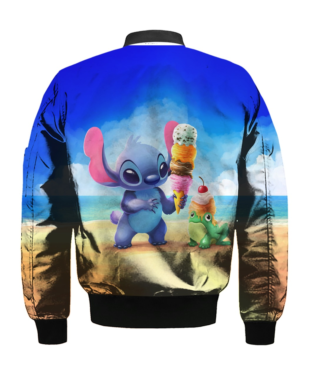 Stitch and ice-cream all over printed bomber -back
