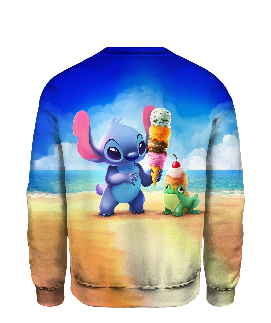 Stitch and ice-cream all over printed sweatshirt - back
