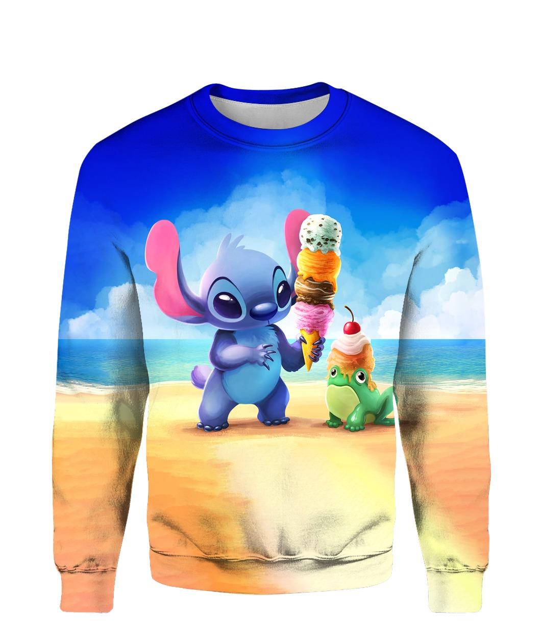 Stitch and ice-cream all over printed sweatshirt