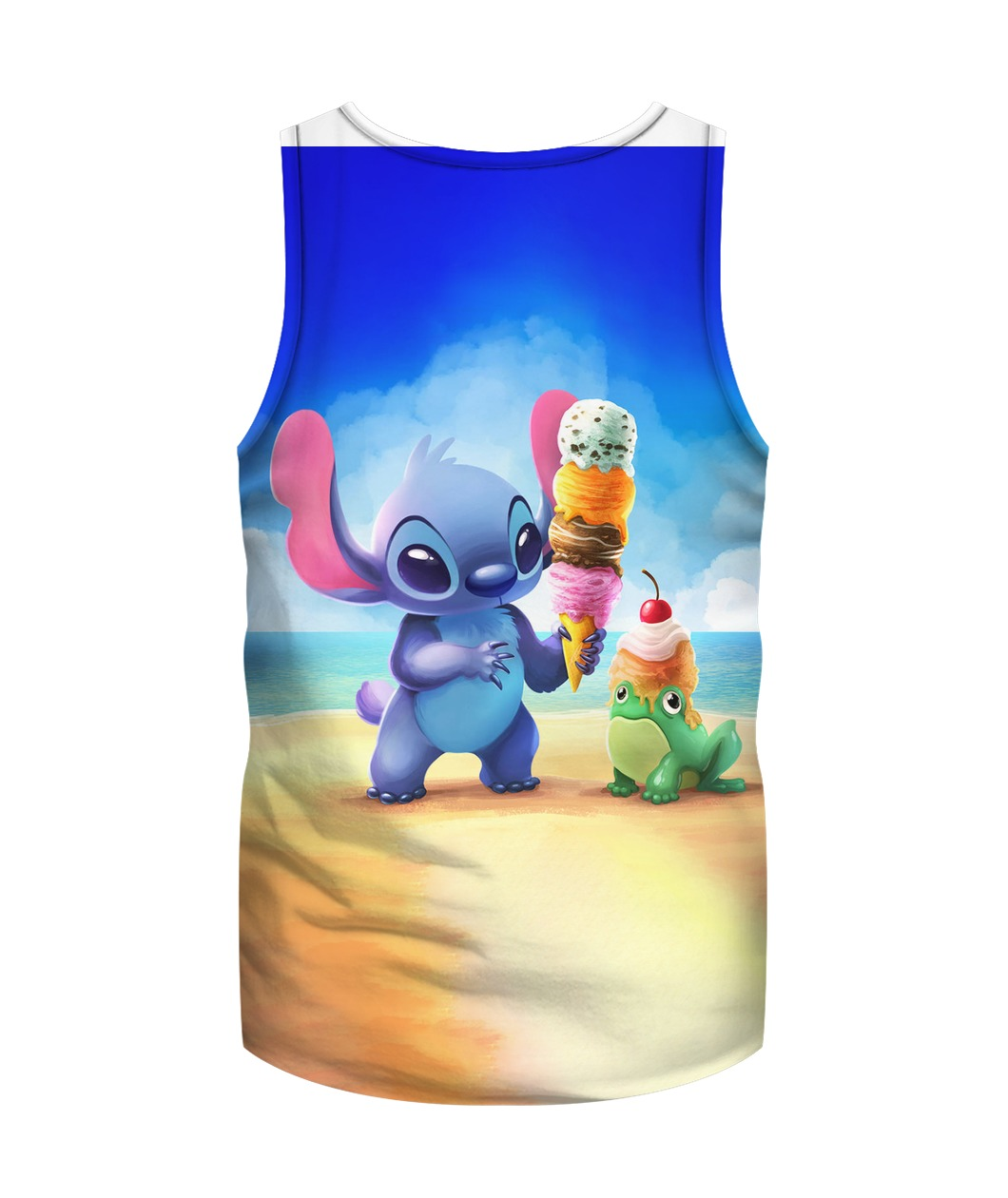 Stitch and ice-cream all over printed tank top - back