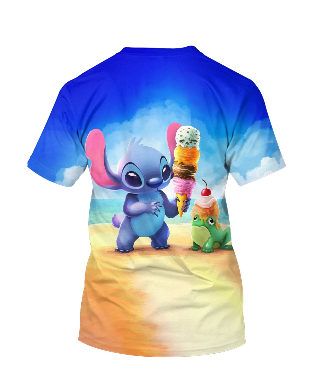 Stitch and ice-cream all over printed tshirt - back