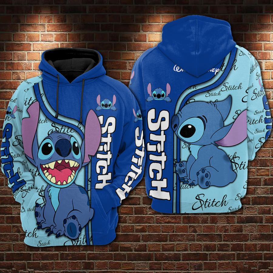 Stitch full printing hoodie