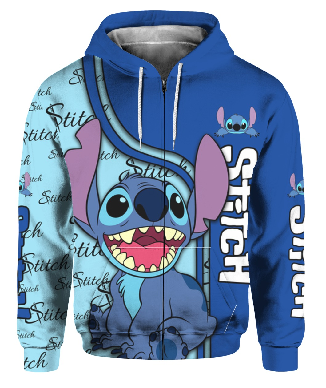 Stitch full printing zip hoodie 1