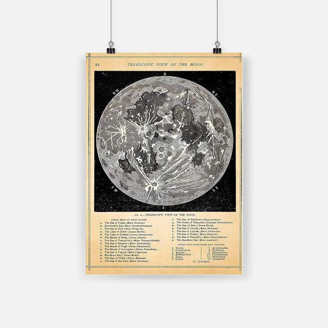 Telescopic view of the moon science passion poster 1