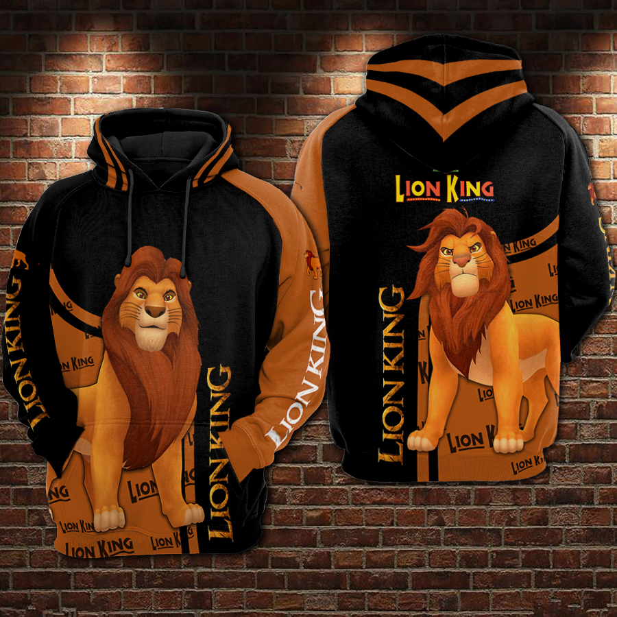 The lion king all over printed hoodie 1