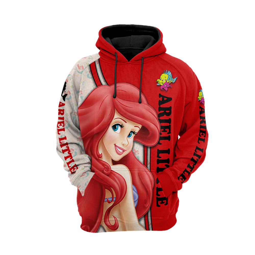 The little mermaid ariel all over printed hoodie 1