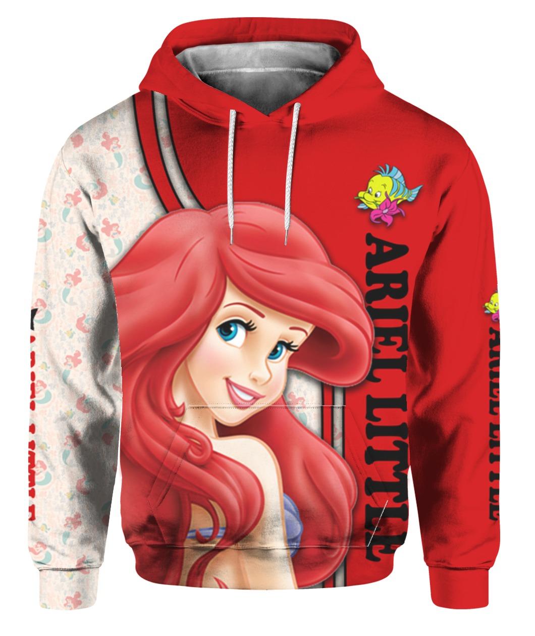 The little mermaid ariel all over printed hoodie