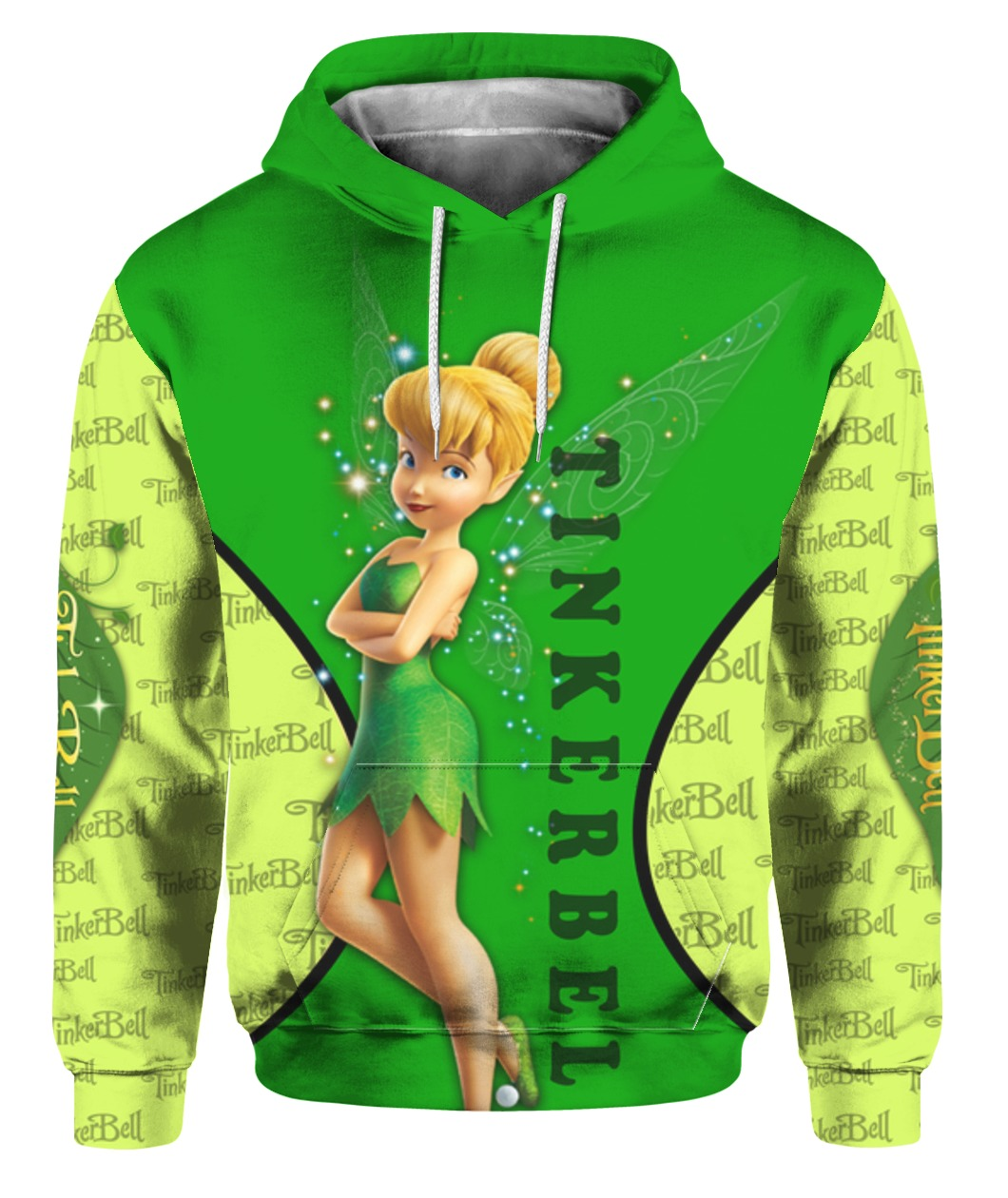Tinker bell all over printed hoodie