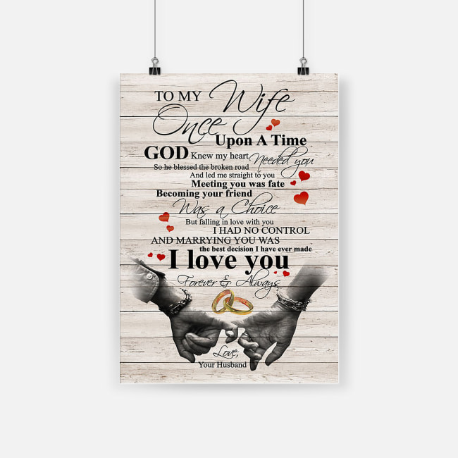 To my wife once upon a time god knew my heart needed you poster 1