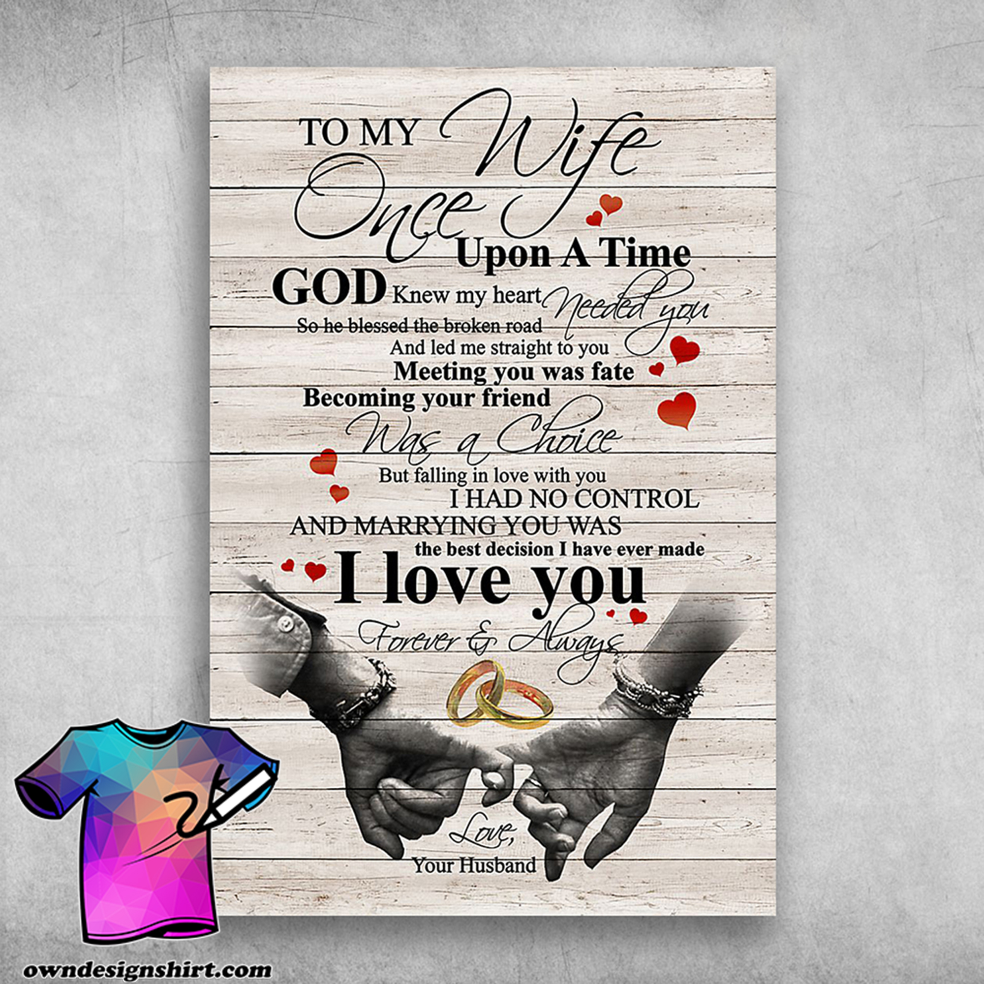 To my wife once upon a time god knew my heart needed you poster