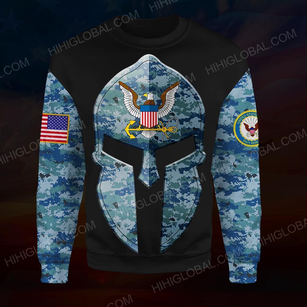 US navy all over printed sweatshirt