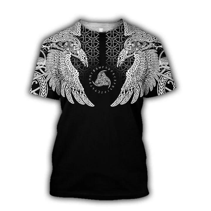 Viking muninn tattoo full printing tshirt