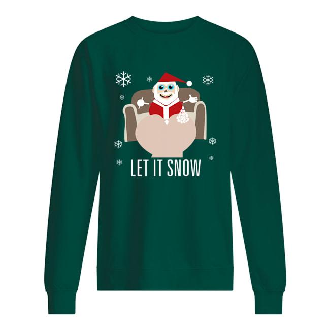 Walmart let it snow santa with lines of cocaine merry christmas sweatshirt