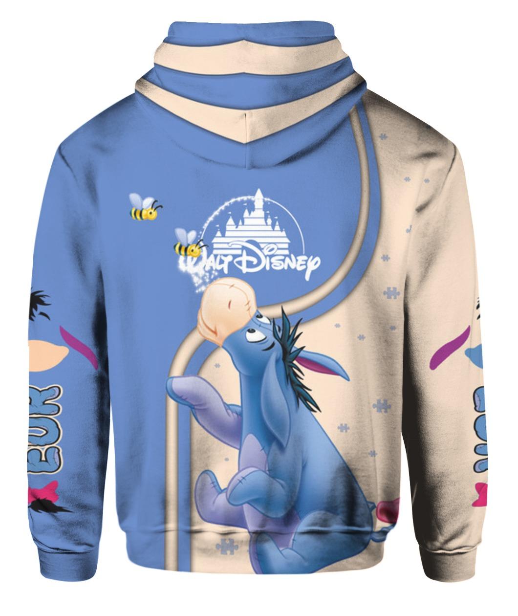 Winnie the pooh eeyore full printing hoodie - back
