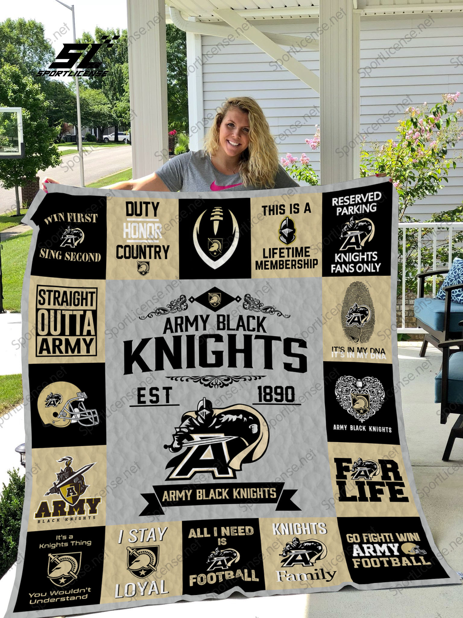 Army black knights quilt 3