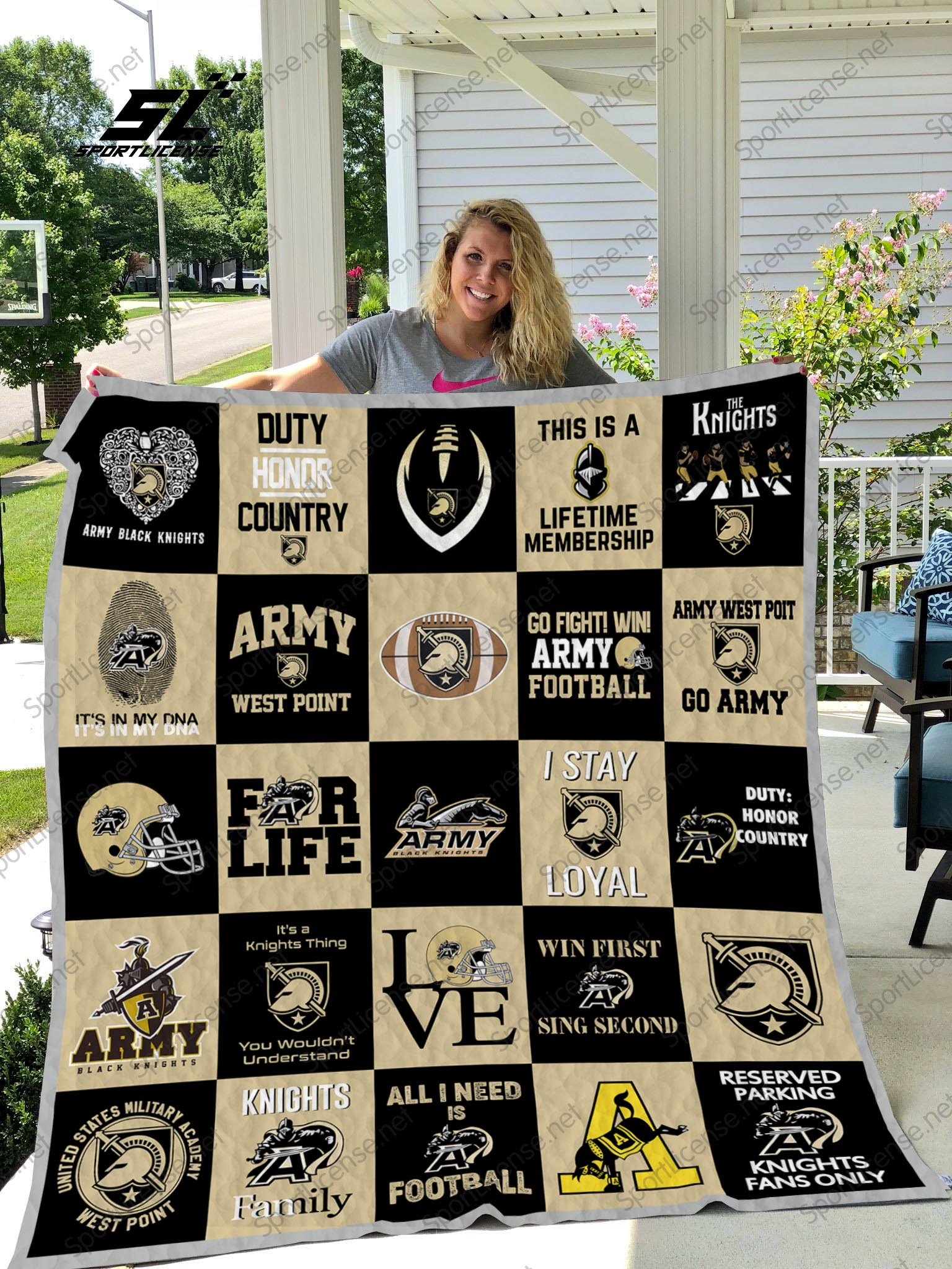 Army west point black knights quilt 2