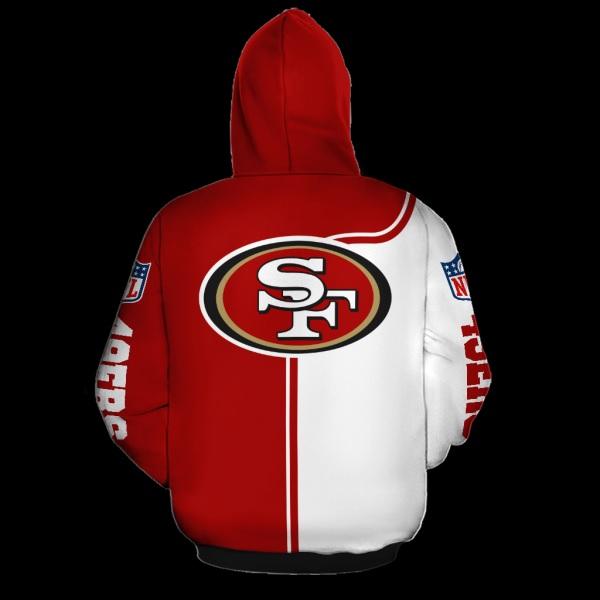 Baby yoda san francisco 49ers full over print hoodie - back