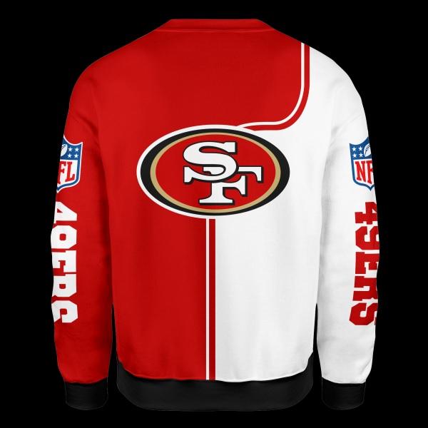 Baby yoda san francisco 49ers full over print sweatshirt - back