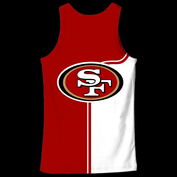 Baby yoda san francisco 49ers full over print tank top - back